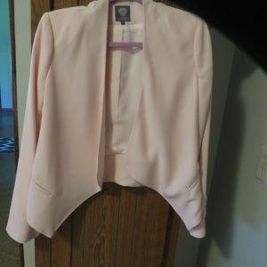 Vince Camuto Drape Pink Jacket sz 4
